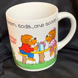 Vintage Berenstain Bears Cup Mug White Ceramic